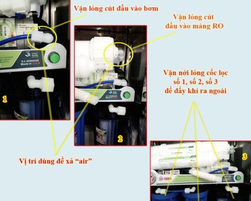 Hướng dẫn xả Air máy lọc nước gia đình