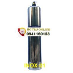 Cột lọc INOX 1054 304 Van cơ