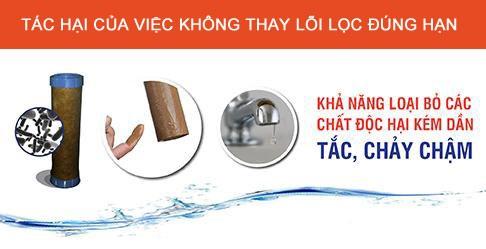 tác hại của việc không thay lõi lọc nước đúng hạn-Hoàng Lâm - Maylocnuochanoi.com